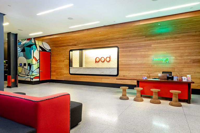 Picture: Lobby of Pod 39 Hotel